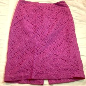 Ann Taylor Lilac Lace Skirt